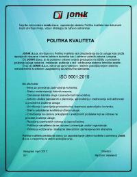 Politika ISO 90012015